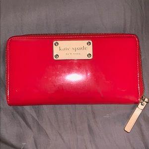 Kate Spade Red Patent Wallet
